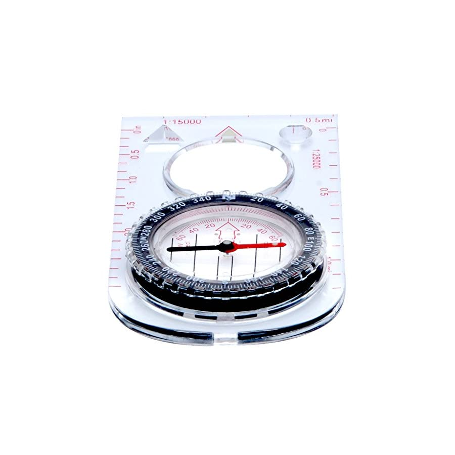 Professional Boy Scout Compass Liquid Filled, Adjustable Declination, Magnetic Heading for Navigation, Orienteering and Survival