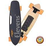Elevens Single Hub Motor Electric Cruiser Skateboard, 12 MPH 10 Mails Remote Control Skateboard(28in, Maple GTS)