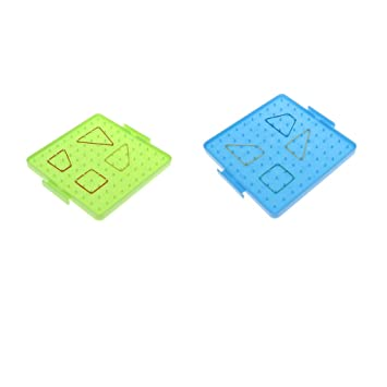 5ad16d97abc0e F Fityle 2 x Kids Plastic Geometry Shape Learning Tool Nail Geoboard Plate  Math Toy