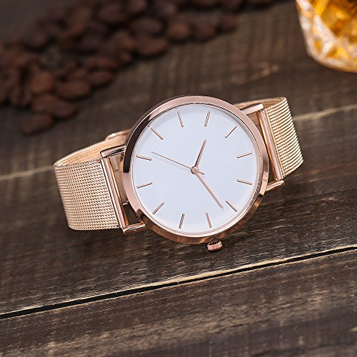Watches for Women, DYTA Stainless Steel Watch Strap 20mm Ladies Watches on Clearance Under 10 Simple Analog Quartz Wrist Watches White Face Casual Ladies Watchs Relojes De Mujer En Oferta by DYTA_watch (Image #1)