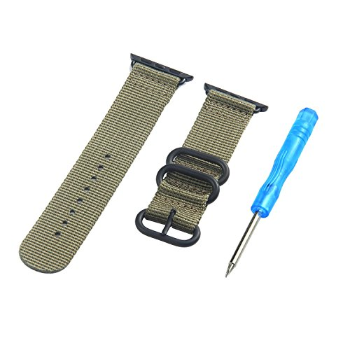 Price comparison product image Kobwa 38MM/42MM Watch Band for Apple Watch, 2017 New Classic NATO Strap Fashion Nylon Weave SmartWatch Bracelet Strap Replacement Watchband for IWatch Series 1 2 & Series 3