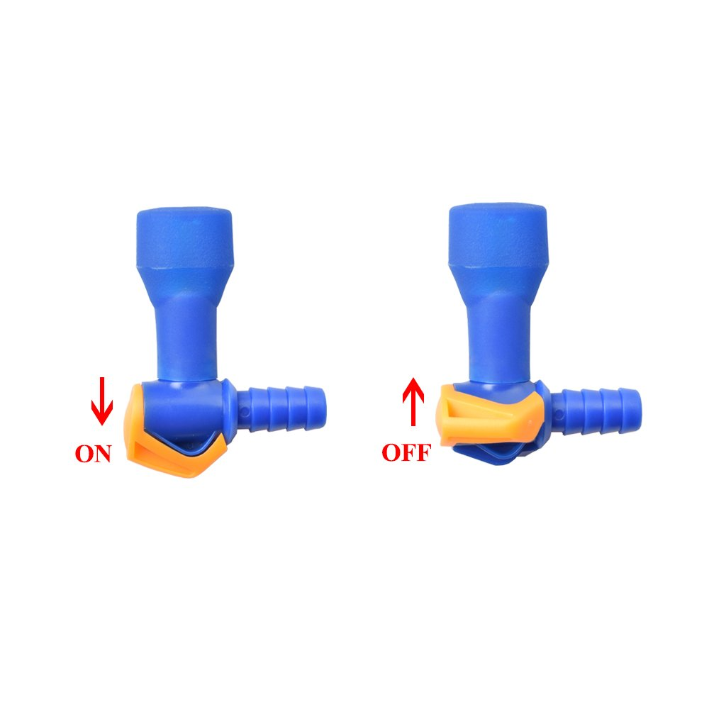 Shelcup ON-Off Switch Bite Valve Replacement for Water Bladder Tube 1 Switch On-Off Valve and 5 Color Mouthpieces Pack of 6