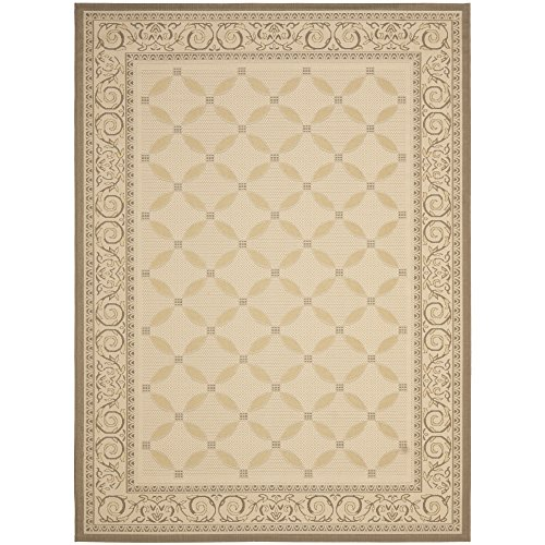 Safavieh Courtyard Collection CY7107-79A21 Beige and Dark Beige Indoor/Outdoor Area Rug (6'7