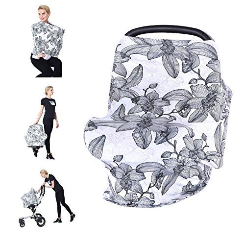 Losska Baby Car Seat Cover Canopy Nursing and Breastfeeding Cover(blossom)