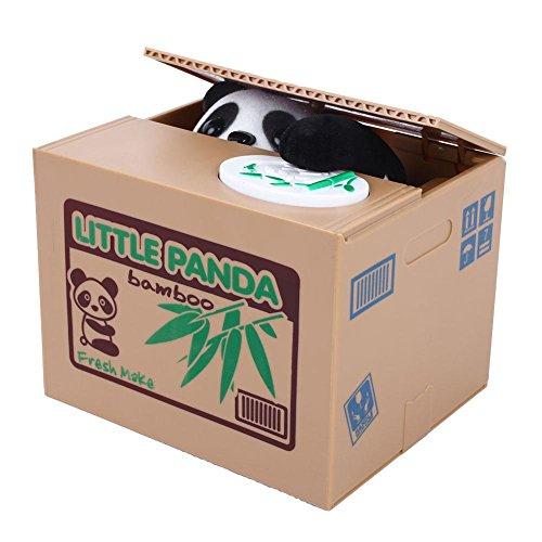 Peradix Gelddose Diebstahl Panda Elektronische Spardose witziges Geschenk für Kinder