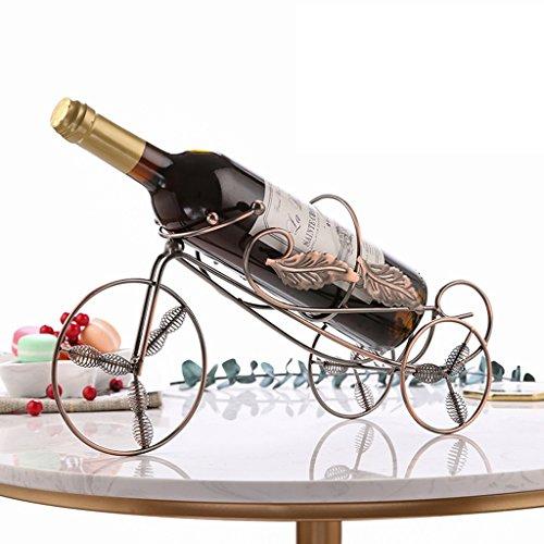 Yxsd Pequeña decoración botella individual botellero titular de la botella de la encimera, estilo europeo Vintage bicicleta...