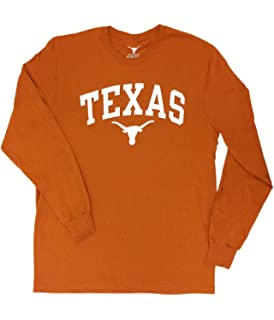 Elite Fan Shop Texas Longhorns Long Sleeve Tshirt Arch Orange