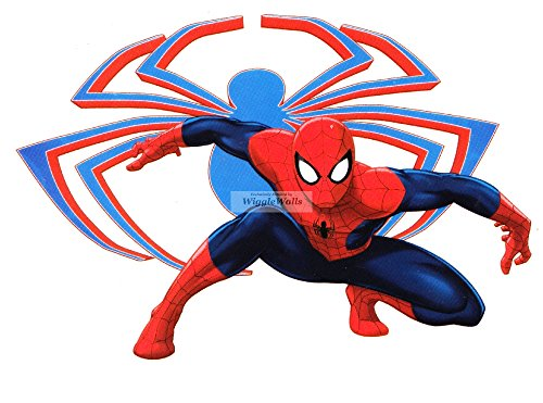 "5"" Ultimate Spiderman Spider Symbol Logo Man Marvel Comics Removable Peel Self Stick Adhesive Vinyl Decorative Wall Decal Sticker Art Kids Room Home Decor Boys Children Nursery Baby 5x3 Inch Tall"