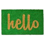 Calloway Mills 100261729GNS Script Hello Doormat, 17' x 29', Green/Natural