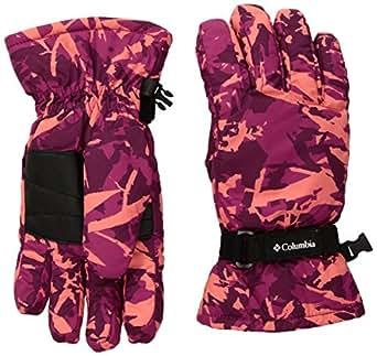 Columbia Girls' Big Y Core Glove, Deep Blush Camo, Large