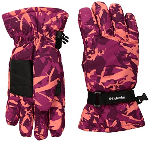 Columbia Big Girls Y Core Glove, Deep Blush Camo, X-Large (Nylon Gloves Camouflage)