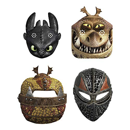 Unique How to Train Your Dragon Party Masks, 8 Ct.]()