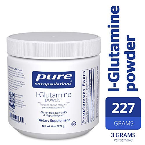 Pure Encapsulations – l-Glutamine Powder – Hypoallergenic Supplement Supports Muscle Mass and Gastrointestinal Tract* – 227 Grams