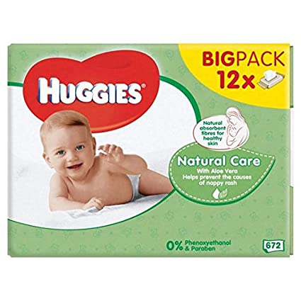 Huggies Natural Care bebé Toallitas 12 x 56 por paquete