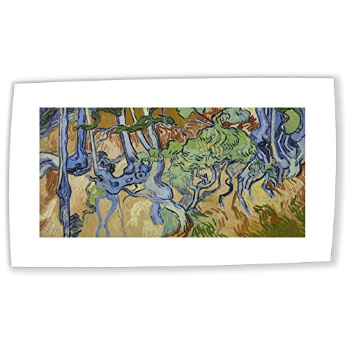 JH Lacrocon Van Gogh Roots And Tree Trunks Canvas Reproductions Rolled 120X60 cm (approx. 48X24 inch) landscape Paintings Fully Textured 3D Printed Fine Art ()