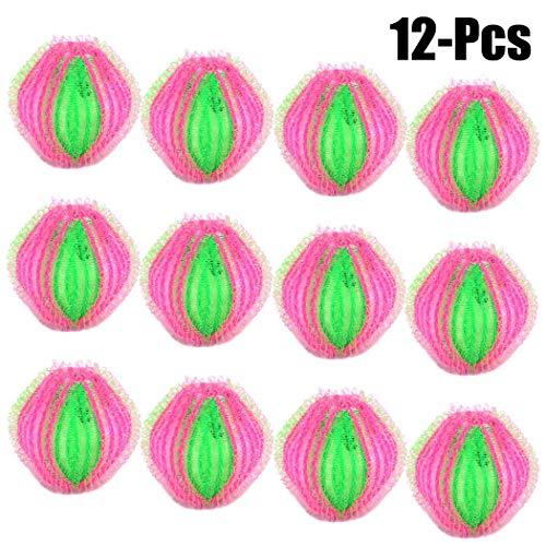 JUSTDOLIFE Washing Balls, Reusable Washing Balls Plastic Dryer Balls Magic Hair Fur Removal Laundry Balls to Save Clothes Washing and Drying Time (12 Pack) ()