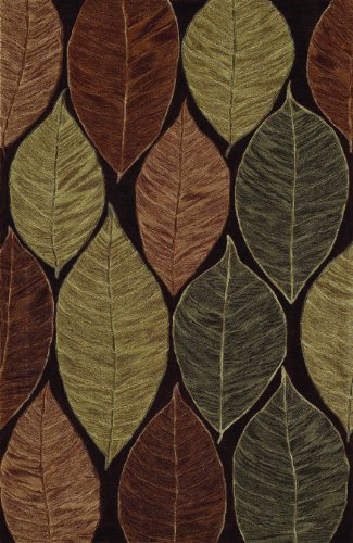 (Dalyn Studio Chocolate, Brick Red, Celery Leaf Patterns 5 7-Feet 9-Inch Area Rug)