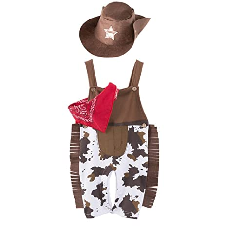 LOLANTA Disfraz de Vaquero Occidental para bebé Disfraz de Sheriff ...