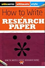 How to Write a Research Paper Paperback