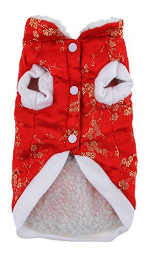 eDealMax China Tang Animal doméstico del Estilo del perro de Pomeranian ropa ropa de Abrigo,