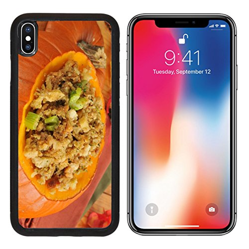 Cornbread Turkey Dressing (MSD Premium Apple iPhone X Aluminum Backplate Bumper Snap Case Cornbread stuffing with celery and turkey in a pumpkin IMAGE 23329510)