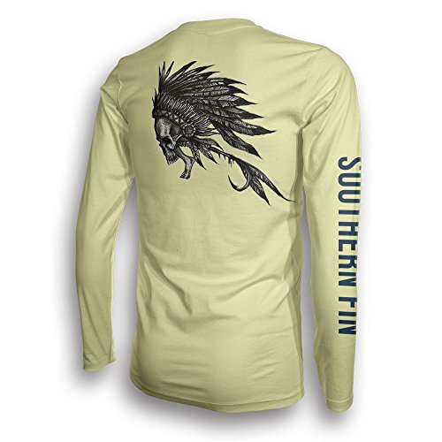 Performance Fishing Shirt Unisex Southern Fin UPF 50 Dri Fit Long Sleeve Apparel - Large, Native Fly ( nativefly_l )