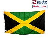 3×5′ Jamaica Flag, All Weather Nylon for Outdoor, Made In USA For Sale