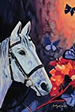 Toland Home Garden Camarillo White Horse 28 x 40 Inch Decorative Flying Butterfly Flower House Flag