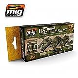 AMMO MIG-7119 Us Armor Wargames Acrylic Paint Set (6 X 17Ml Jars), Multicolour