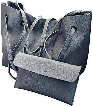 TOOGOO Women PU Leather Shoulder Messenger Bag Tote Purse Handbag Crossbody Satchel Hot Dark gray