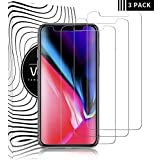 "[5.8"" inch] iPhone X/Xs Screen Protector, WZS Premium Tempered Glass with 3D Touch Accuracy and 99.99% HD Clarity, Tempered Glass Screen Protector for iPhone X/iPhone Xs [3-Pack]"