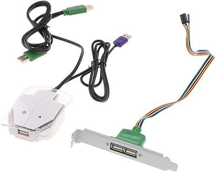 Start/Reset/USB botón Interruptor PC Caja Fuente de alimentación para Ordenador de sobremesa: Amazon.es: Electrónica