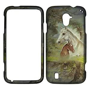 2D Racing Horse ZTE Majesty Z796C Straight Talk Case Cover Hard Phone Case Snap-on Cover Rubberized Touch Faceplates