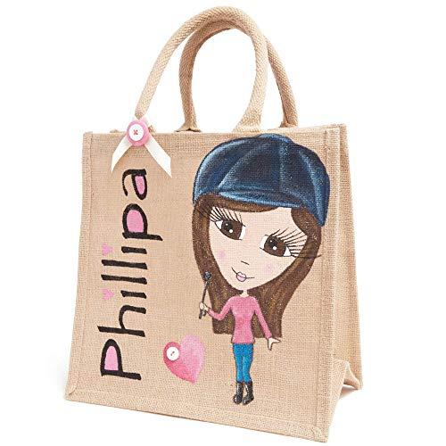 Lisa Ladies Personalised White Tote Bag Shopping Change Name Gift Birthday