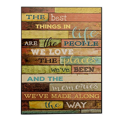 Best Things In Life People Places Memories Made Distressed Look 16 x 12 Wood (Decorative Life)