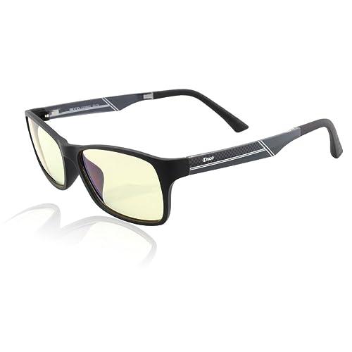 DUCO Video Games Glasses Pro Anti-glare Protection Anti-fatigue Anti UV-Blue Light Blocking Glasses for Smartphone Screen Compter or TV 223