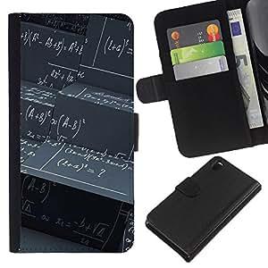 Ihec-Tech / Flip PU Cuero Cover Case para Sony Xperia Z3 D6603 / D6633 / D6643 / D6653 / D6616 - Abstract Math Science Pattern