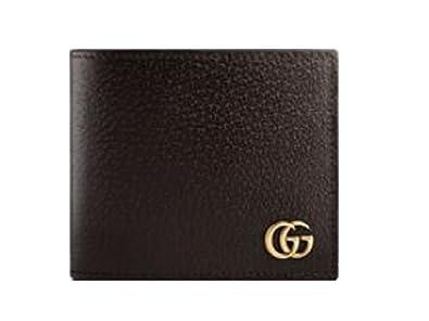 708f7ec9070c Amazon | GUCCI グッチ 二つ折り 財布 長財布 メンズ GGマーモント レザー 二つ折り財布 コイン ウォレット (ブラウン) | 財布