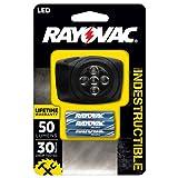 Rayovac DIYHL3AAA-B Virtually Indestructible 50 Lumen 3AAA LED Headlight with Batteries