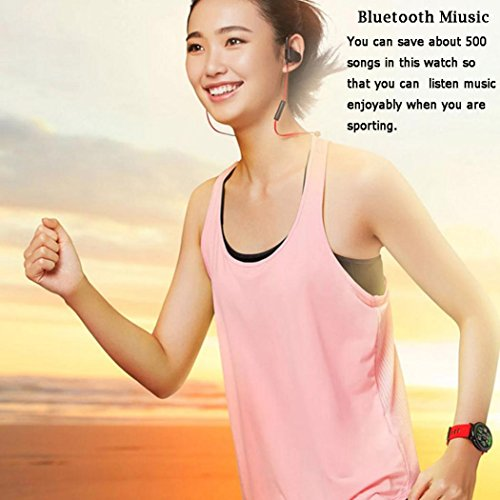 For Xiaomi Amazfit Pace GPS Running Sport Smartwatch Movement Record,Black/Red (Red) by Freshzone (Image #4)