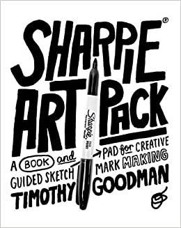 Book Sharpie Art Pack: A Book and Guided Sketch Pad for Creative Mark Making