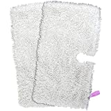 Amazingli Household Microfiber Cleaning Pad for Shark Steam Pocket Mops S3500, S3550, S3601 and S3901 Replacement Pads 2pcs, 12.5 * 7 inches White