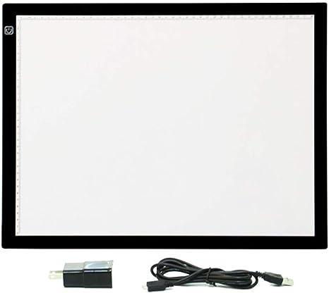 ACC Tablero de Dibujo LED, A3 Portátil Copia Seguimiento Seguimiento Caja de luz USB Luz con Brillo Ajustable para Dibujo, Animación, Boceto: Amazon.es: Deportes y aire libre