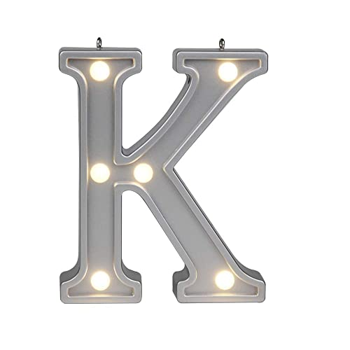 delicore decorative 421 tall silver color small marquee alphabet letter lights light up letter