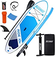 """ACOWAY Inflatable Paddle Boards, 10'6"""" × 32""""/ 33""""× 6"""" Youth Paddle Board, Accessories"""