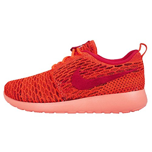 Nike Womens Wmns Roshe One Flyknit, Total Orange / Gym Red-black-sunset Glow, 6.5 M Us
