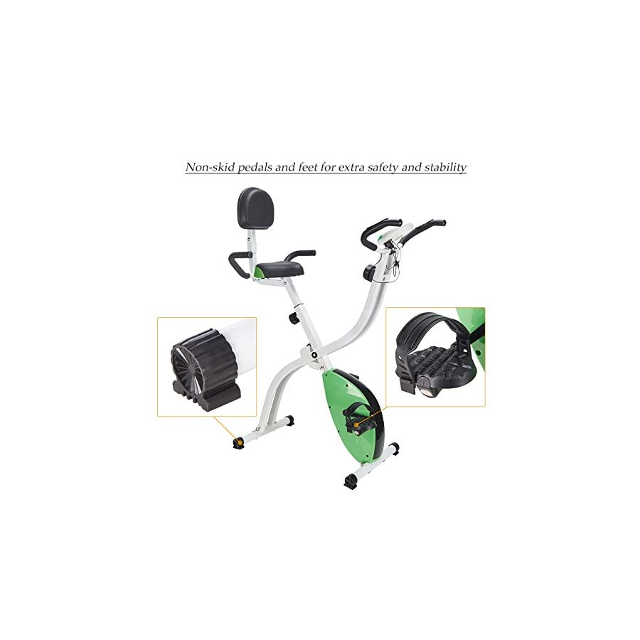 Pinty Adjustable Folding Upright Magnetic Exercise Bike
