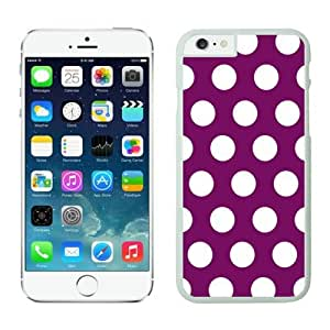 iphone 4 4s Cases;cute iphone 4 4s Case,polka Dot Purple and White iphone 4 4s Cases White