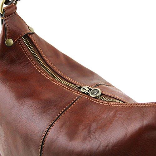 Tuscany Leather Sabrina Borsa in pelle da donna Nero Testa di Moro