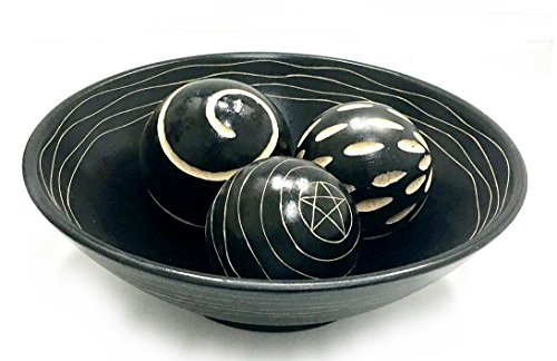 Beautiful Decorative Artisan Deco Bowl and Ball Centerpiece - Deco Bowl And Ball